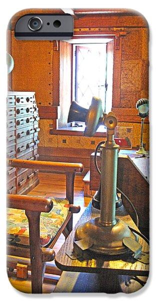 1920's Office iPhone Case by Barbara McDevitt