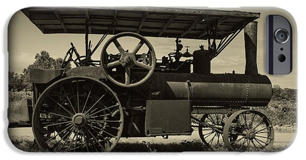 Machinery iPhone Cases - 1921 Aultman Taylor Tractor iPhone Case by Debra and Dave Vanderlaan