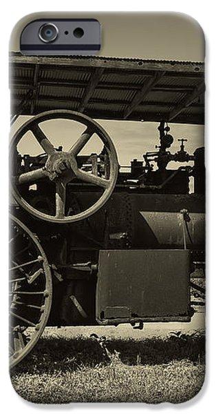 1921 Aultman Taylor Tractor iPhone Case by Debra and Dave Vanderlaan