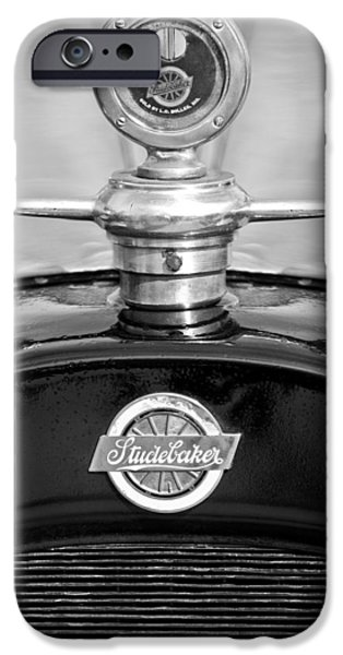 1922 Studebaker Touring Hood Ornament 3 iPhone Case by Jill Reger