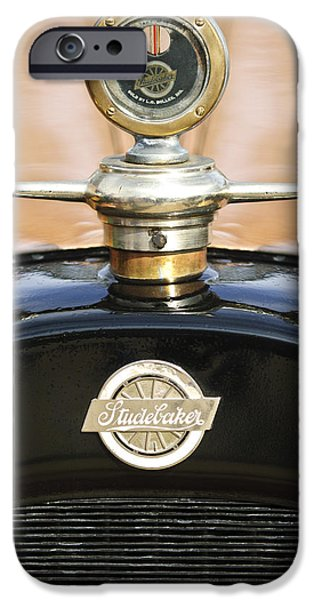 1922 Studebaker Touring Hood Ornament iPhone Case by Jill Reger