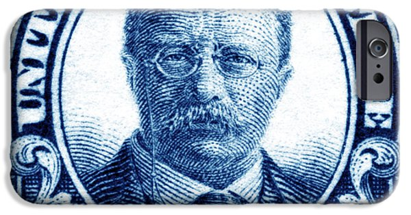Conservative Paintings iPhone Cases - 1922 Theodore Roosevelt Stamp iPhone Case by Historic Image