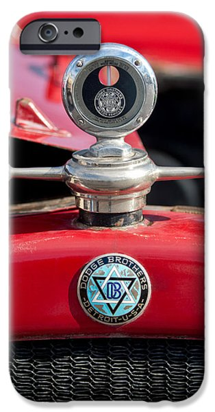 Motometer iPhone Cases - 1923 Dodge Brothers Hood Ornament iPhone Case by Jill Reger