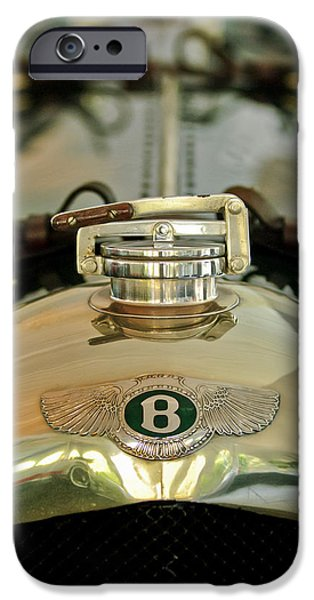 1925 Bentley 3-Liter 100mph Supersports Brooklands Two-Seater Radiator Cap iPhone Case by Jill Reger