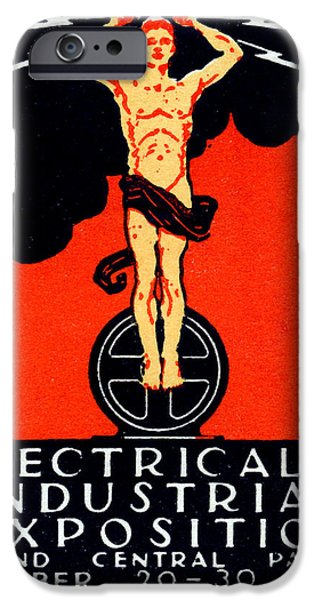 Electrical Paintings iPhone Cases - 1926 New York City Electrical Industrial Exposition iPhone Case by Historic Image