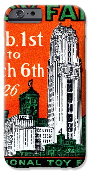 Best Sellers -  - Toy Store iPhone Cases - 1926 New York City Toy Fair Poster iPhone Case by Historic Image