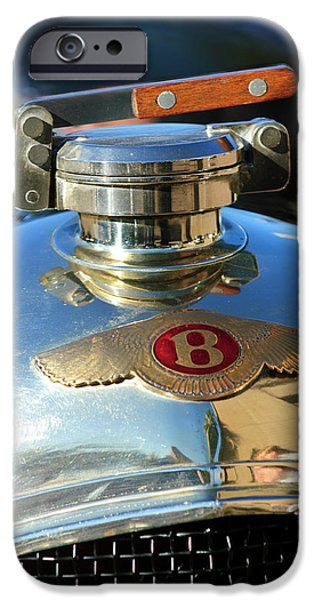 1927 Bentley Hood Ornament iPhone Case by Jill Reger