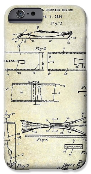 Shark iPhone Cases - 1927 Fish and Fowl cleaning Device Patent iPhone Case by Jon Neidert