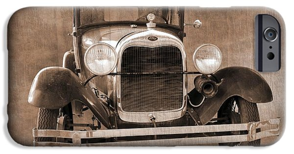 Betty Ford iPhone Cases - 1928 Ford Model A Coupe iPhone Case by Betty Northcutt