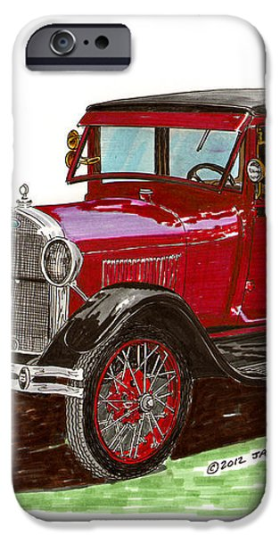 1928 Ford model A two door iPhone Case by Jack Pumphrey