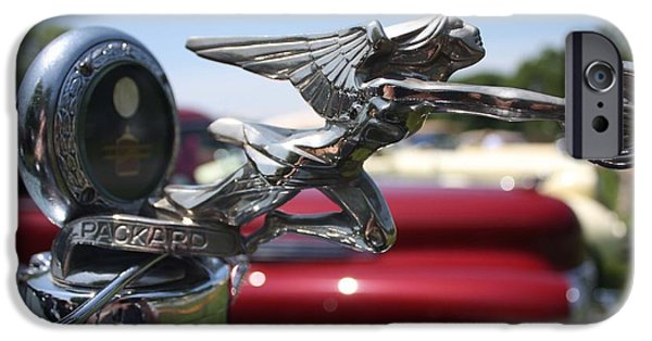Automotive iPhone Cases - 1928 Packard Hood Ornament iPhone Case by John Telfer