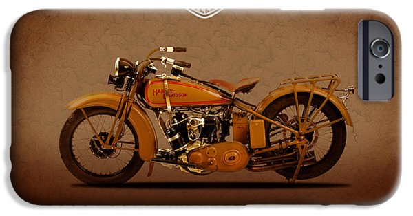 Glides iPhone Cases - 1929 Harley Davidson iPhone Case by Mark Rogan