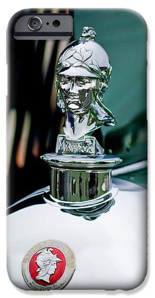 1929 Minerva Hood Ornament iPhone Case by Jill Reger