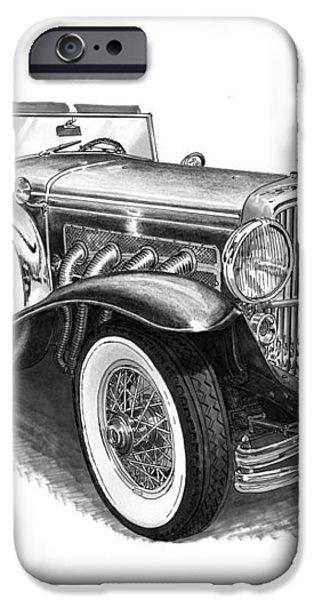 1930 Duesenberg Model J iPhone Case by Jack Pumphrey