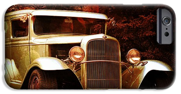 Michael Mixed Media iPhone Cases - 1931 Ford Panel Truck iPhone Case by M and L Creations