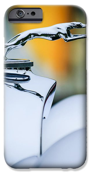 Lincoln iPhone Cases - 1931 Lincoln K Hood Ornament -1837c iPhone Case by Jill Reger