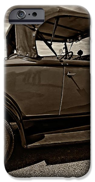 1931 Model T Ford monochrome iPhone Case by Steve Harrington