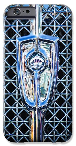 President iPhone Cases - 1931 Studebaker President Four Seasons Roadster Grille Emblem iPhone Case by Jill Reger