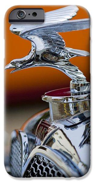 1932 Alvis Hood Ornament 2 iPhone Case by Jill Reger