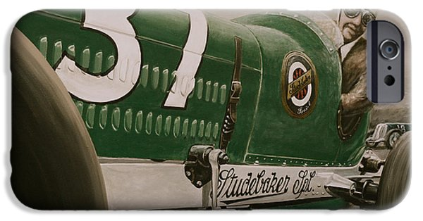 Indy Car iPhone Cases - 1932 Studebaker Indy Car iPhone Case by Branden Hochstetler