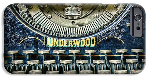 Typewriter Keys iPhone Cases - 1932 Underwood Typewriter iPhone Case by Paul Ward