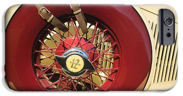 1933 iPhone Cases - 1933 Auburn 12-161A Custom Speedster Spare Tire Emblem iPhone Case by Jill Reger