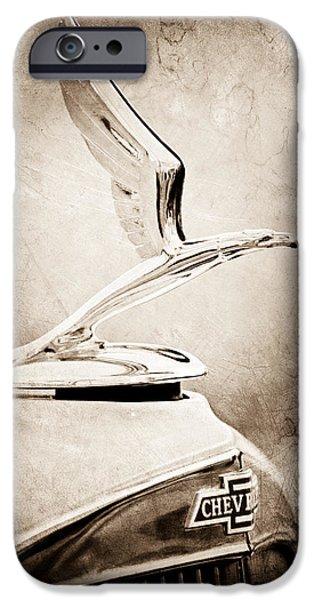 1933 iPhone Cases - 1933 Chevrolet Hood Ornament - Emblem iPhone Case by Jill Reger