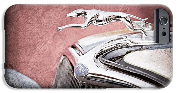 1933 iPhone Cases - 1933 Ford Hood Ornament - Grille Emblem iPhone Case by Jill Reger