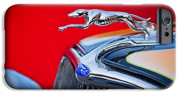 1933 iPhone Cases - 1933 Ford Hood Ornament iPhone Case by Jill Reger