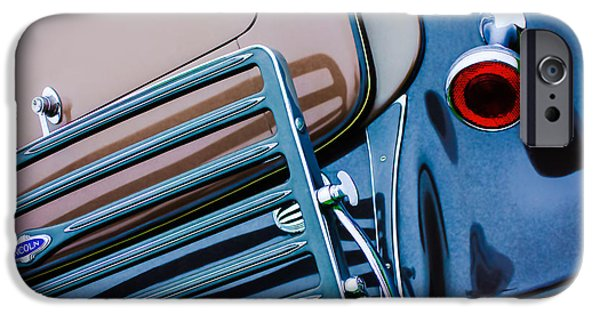 Lincoln iPhone Cases - 1933 Lincoln KB Judkins Coupe Taillight Emblem iPhone Case by Jill Reger