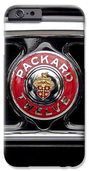1933 iPhone Cases - 1933 Packard 1005 Twelve Dietrich Convertible Victoria Emblem iPhone Case by Jill Reger