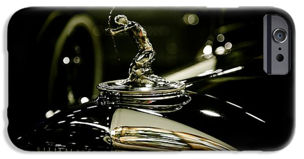 Old Cars iPhone Cases - 1933 Pierce Arrow Hood Ornament iPhone Case by Nina Prommer