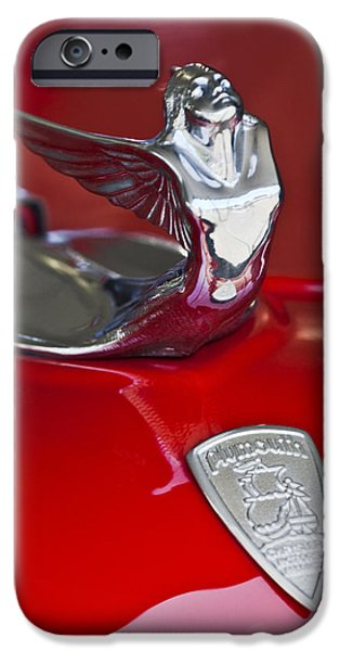 Historic Vehicle iPhone Cases - 1933 Plymouth Hood Ornament iPhone Case by Jill Reger