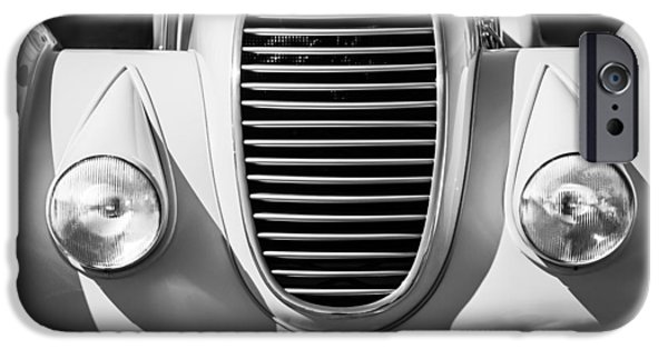 Algae Photographs iPhone Cases - 1934 Alfa Romeo 8C Zagato Grille -0071bw iPhone Case by Jill Reger