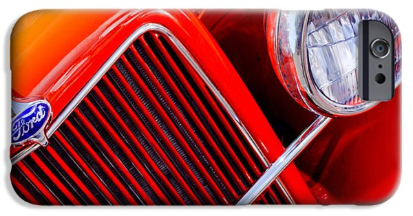 Ford Truck iPhone Cases - 1934 Ford Pickup Truck Grille Emblem iPhone Case by Jill Reger