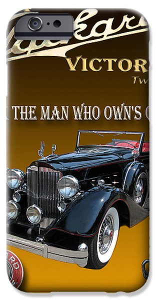 Mascots Mixed Media iPhone Cases - 1934 Packard iPhone Case by Jack Pumphrey