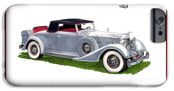 2 Seat iPhone Cases - 1934 Packard Twelve 1107 Coupe iPhone Case by Jack Pumphrey