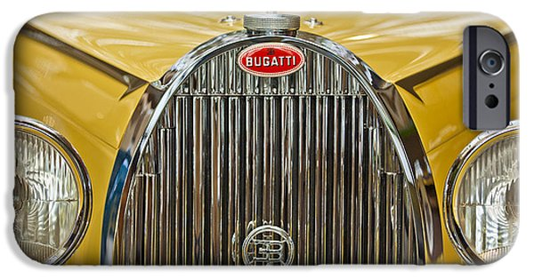 Bugatti Vintage Car iPhone Cases - 1935 Bugatti Type 57 Roadster Grille iPhone Case by Jill Reger