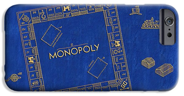 Monopoly iPhone Cases - 1935 Monopoly Patent Art 3 iPhone Case by Nishanth Gopinathan