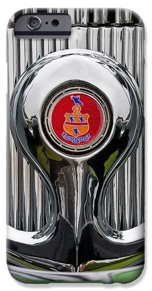 1935 Pierce-Arrow 845 Coupe Emblem iPhone Case by Jill Reger