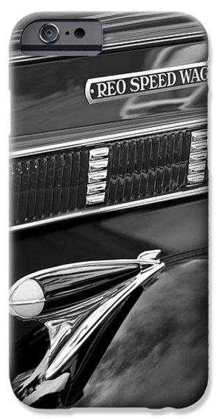 1935 Reo Speed Wagon 6AP Pickup Emblem iPhone Case by Jill Reger