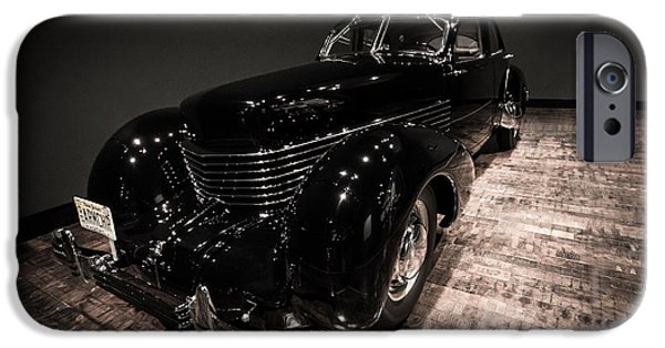 Frist Museum iPhone Cases - 1936 Cord 810 Beverly Sedan iPhone Case by Steve Munoz