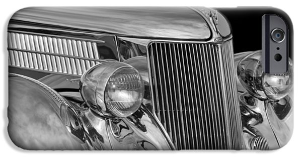 Stainless Steel Photographs iPhone Cases - 1936 Ford - Stainless Steel Body iPhone Case by Jill Reger