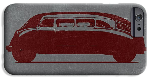Vintage Car iPhone Cases - 1936 Stout Scarab iPhone Case by Naxart Studio