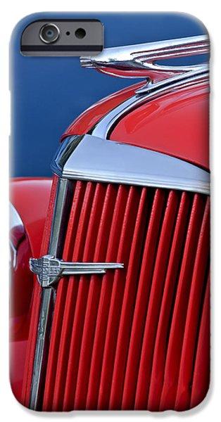 1937 Chevrolet Hood Ornament iPhone Case by Jill Reger