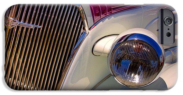 David iPhone Cases - 1937 Chevy 4 door sedan iPhone Case by David Patterson