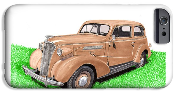 Upgrade iPhone Cases - 1937 Chevy Master Deluxe 2 Dr Sedan iPhone Case by Jack Pumphrey