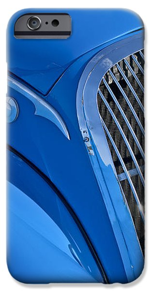 1937 Peugeot 402 Darl'mat Legere Special Sport Roadster Recreation Grille Emblem iPhone Case by Jill Reger