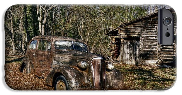 Rusted Cars iPhone Cases - 1937 Revisited iPhone Case by Benanne Stiens
