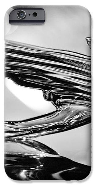 1938 CadillacV-16 Hood Ornament iPhone Case by Jill Reger
